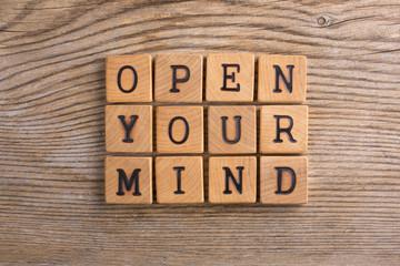 "Pannello ""Open your mind"""