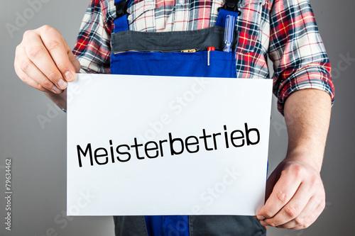 Poster Meisterbetrieb