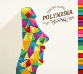 Travel Polynesia landmark polygonal monument