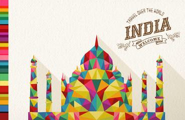 Travel India landmark polygonal monument