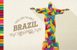 Travel Brazil landmark polygonal monument - 79635015