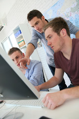 Students in digital design training course with instructor