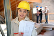 Young woman in construction professional training - 79637643