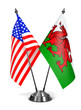 USA and Wales - Miniature Flags. - 79638031