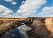 Irish peat Bog landscape - 79638427