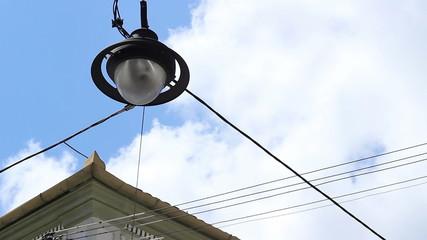 Lantern Hanging over the Street