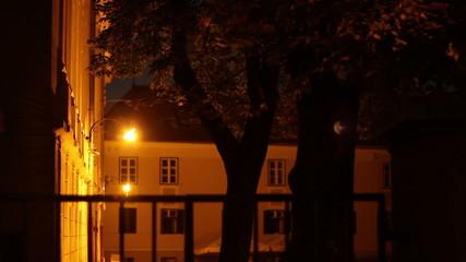 Lantern Above Old Building Entrance