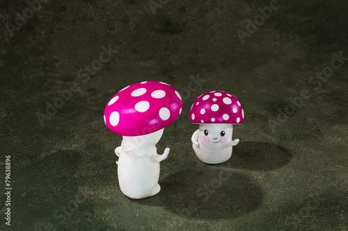 two ceramic mushrooms - 79638896