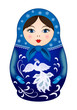 Matryoshka doll in winter style - 79639044