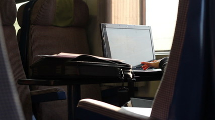 Laptop Work on Train