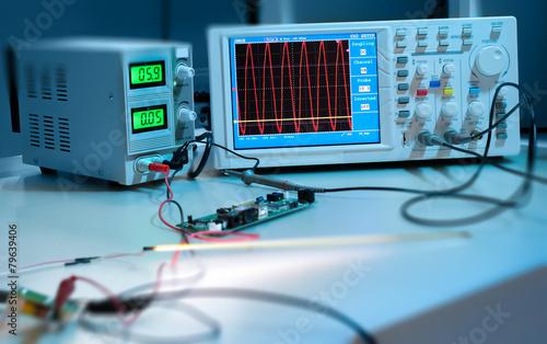 Leinwanddruck Bild Electronic equipment in computer service centre