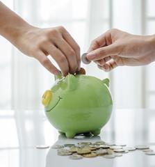 Closeup of piggy bank