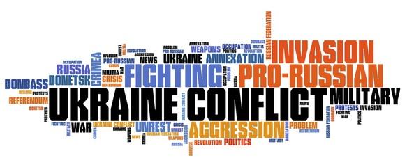 Ukraine conflict - word cloud