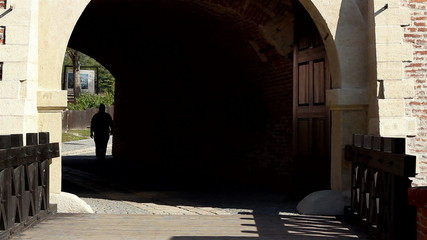 Man Silhouette on Tunnel.