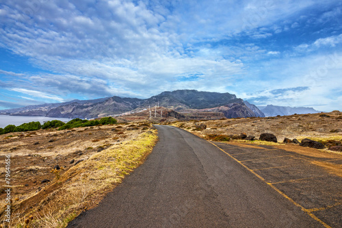 Road in Madeira island, Portugal