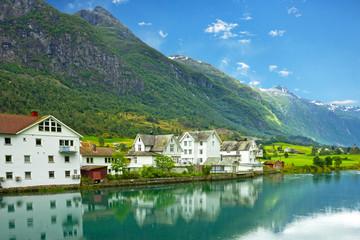 Natural summer landscape, Olden, Norway