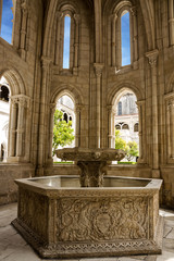 Fontaine in Alcobaca Catholic Monastery, Portugal