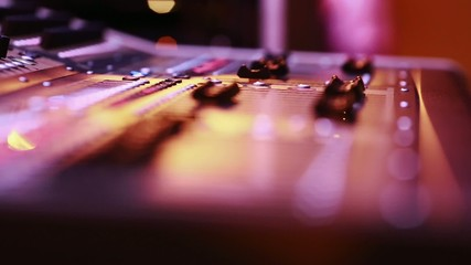 Cool selective focus of digital audio console faders