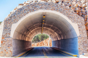 Tunnel in a mountains.