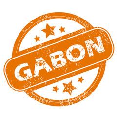 Gabon grunge icon