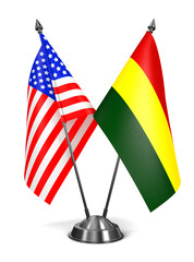 USA and Bolivia - Miniature Flags.