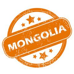 Mongolia grunge icon
