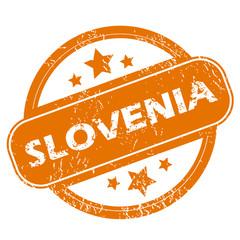 Slovenia grunge icon