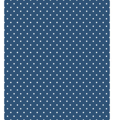 Seamless dot pattern. White dots on blue background