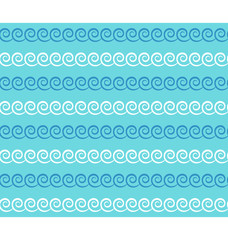 Seamless sea pattern. Blue and white waves on light blue backgro