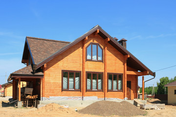 Low country construction. New wooden house