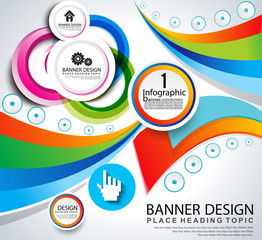 abstract infographic banner background
