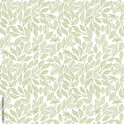 Seamless leaf pattern - 79644466