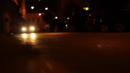 Nighttime Low Angle Cars