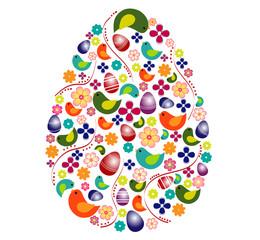 Colorful egg shape