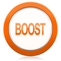 boost orange icon