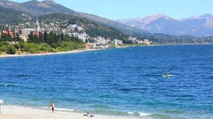 View of San Carlos de Bariloche and Nahuel Huapi lake