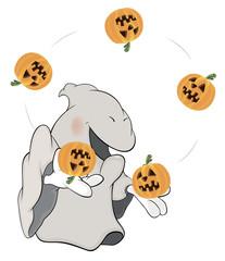 Ghost the juggler cartoon