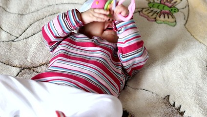 Playing with Toy Baby Girl