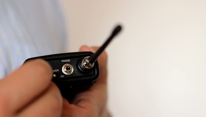 Power On Lavalier Microphone Transmitter