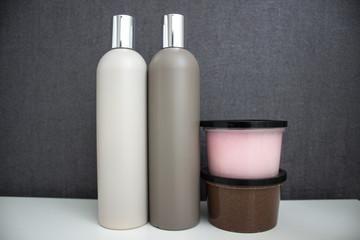 scrub, shampoo, cream