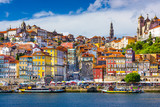 Fototapety Porto, Portugal Old City Skyline on the Douro River