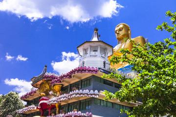 holly temple in Dambula, touristic attraction, Sri lanka