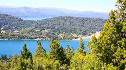 View of Nahuel Huapi lake from Cerro Otto mountain