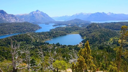 View of Gutierrez lake from Cerro Otto mountain