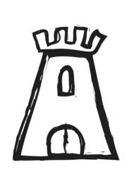 doodle medieval tower
