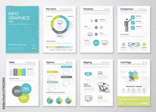 Fresh infographics vector concept. Business graphics brochures - 79652684