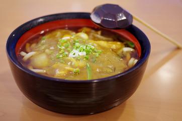 Japanese noodle curry soup