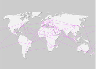 Hauptstände der Welt vernetzt
