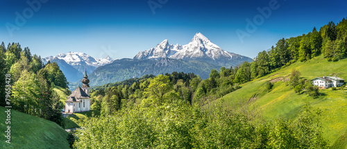 Leinwanddruck Bild Nationalpark Berchtesgadener Land, Bavaria, Germany