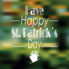 have happy st. patrick´s day over blur bacground